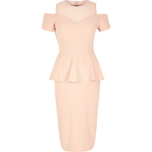 Light pink peplum dress