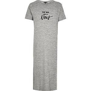 Grey toi moi print maxi t-shirt dresses