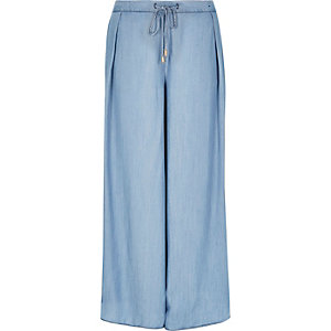 Light blue palazzo pants