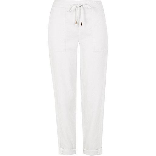 Pantalon blanc avec cordon