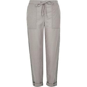 Grey drawstring trousers