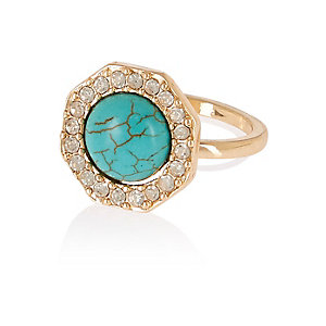 Turquoise encrusted ring