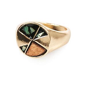 Brown wood ring