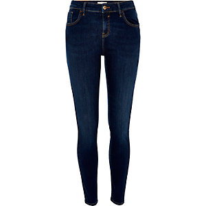 Dark blue wash Amelie super skinny jeans