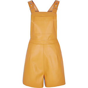 Yellow fitted playsuit