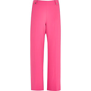 Bright pink wide leg pants