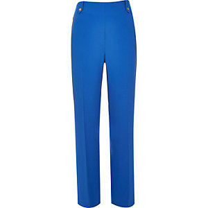 Blue high waisted wide leg pants