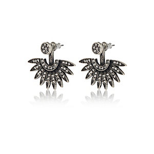 Gunmetal stud earrings