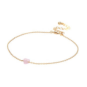 Gold tone heart anklet