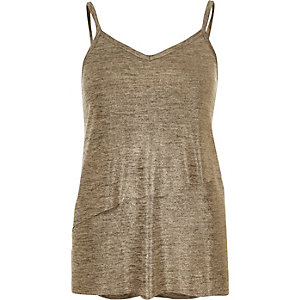 Gold double layer cami