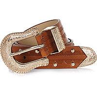 Tan Western belt