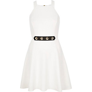 Cream studded dress