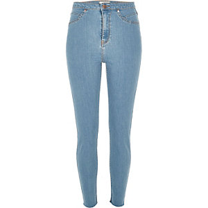 Light wash blue high rise Molly jeggings