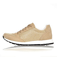 Gold glittery sneakers