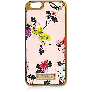 Beige floral print iPhone 6 case