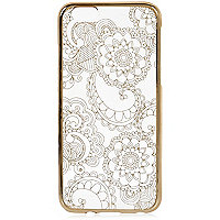 Gold floral iPhone 6 case