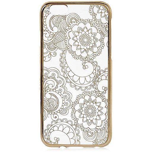 Coque dorée métallisée pour iPhone 6