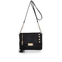 Black tassel chain bag