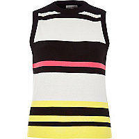 Pink stripe sleeveless top