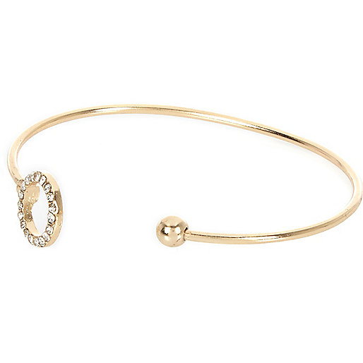 Gold tone embellished bangle