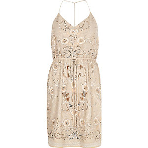 Light pink embellished dress