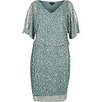 Light green sequin dress