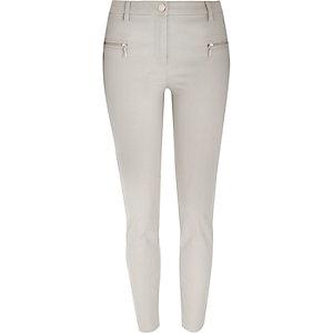 Grey skinny fit pants