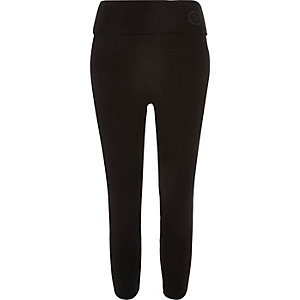 Black high rise capri leggings