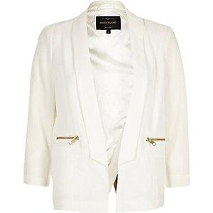 White cross back blazers