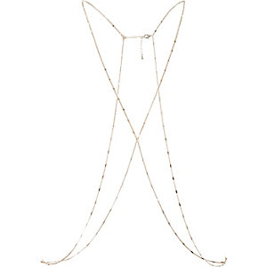 Gold tone flatlink body harness