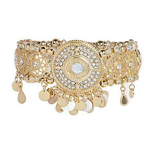 Gold tone embellished arm cuff