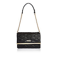 Black quilted shoulder bag
