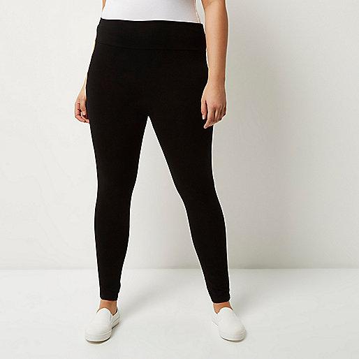 Plus – Leggings mit hohem Bund