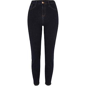 Lori – Skinny Jeans in dunkler Waschung mit hohem Bund
