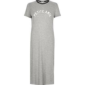 Grey petite amie maxi t-shirt dress