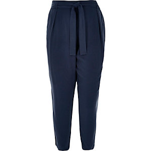 RI Plus navy tapered trousers