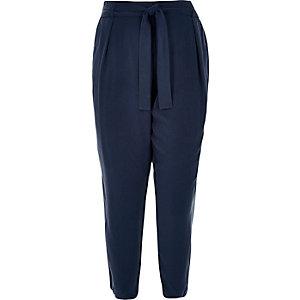 RI Plus navy tapered pants