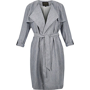 RI Plus blue trench coat