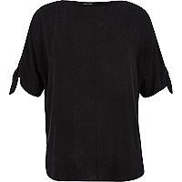 RI Plus black split sleeve t-shirt