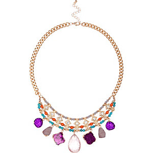 Purple gemstone necklace