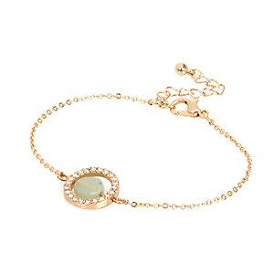 Gold tone opal bracelet