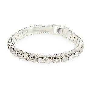 Silver tone rhinestone tennis bracelet
