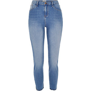 Mid blue wash high rise Lori skinny jeans