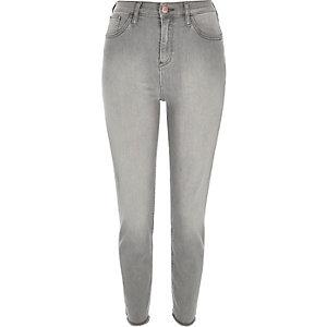 Grey wash high waisted Lori skinny jeans