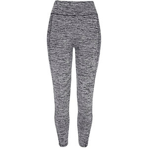 Grey high waisted yoga leggings