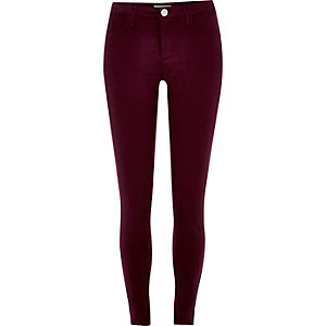 Dark red Molly skinny jeans