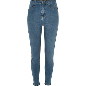 Mid blue wash Molly high rise jeggings
