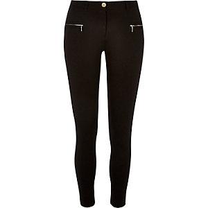 Black jersey slim pants