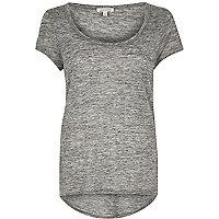 Grey scoop neck T-shirt