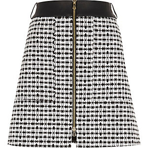 Black A-line mini skirt